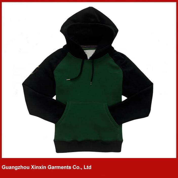 Custom Fashion Design Wholesale Blank Pullover Hoodies Men (T07)