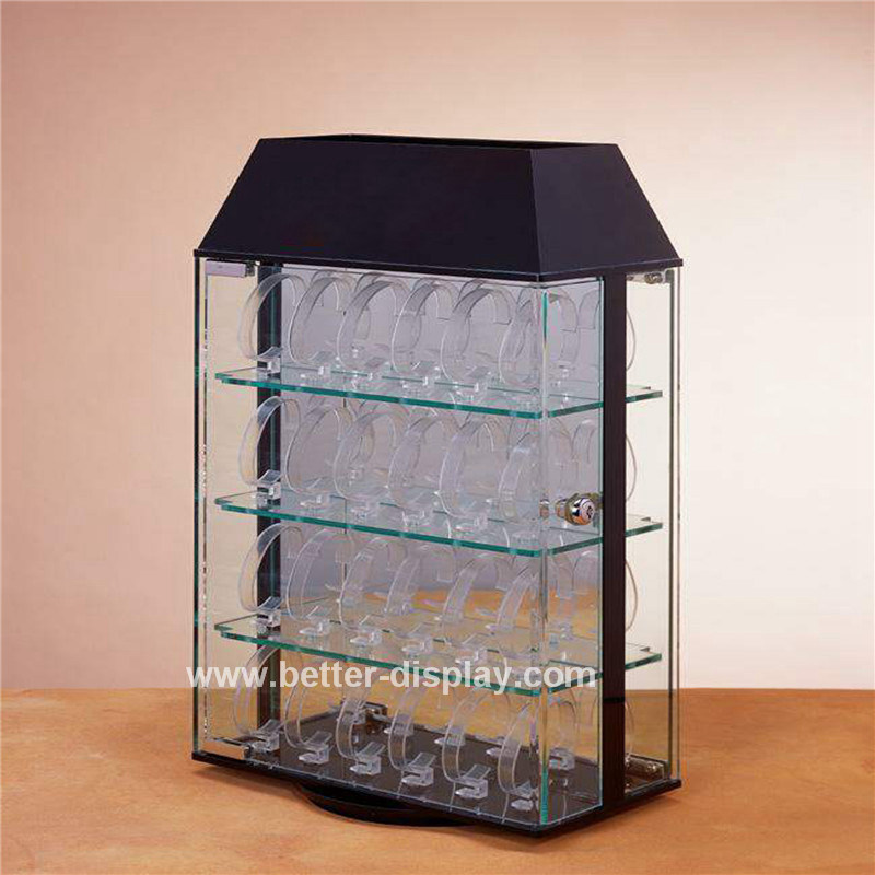 Clear Acrylic Rotating Watch Display Case Btr-F1013