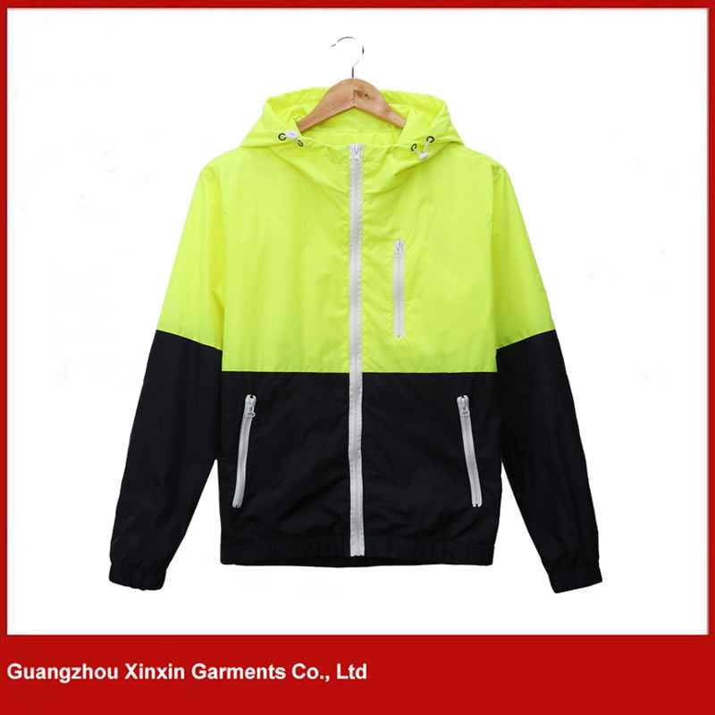 Wholesale Fashionable Men′s Cheap Hoodie Windbreaker Jacket (J131)