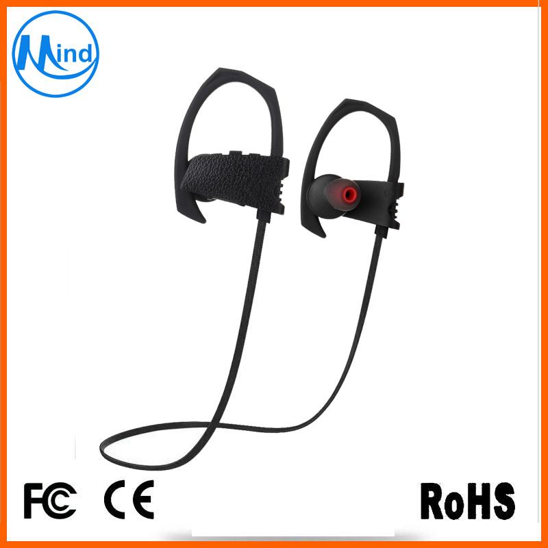 Ipx7 Waterproof Bluetooth Wireless Earphone Neckband Earpiece for Sports Running