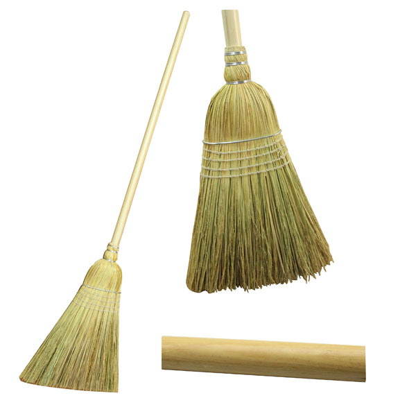 Wood Handle Warehouse Straw Broom