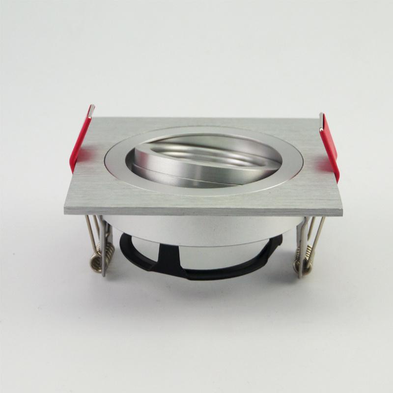 Lathe Aluminum GU10 MR16 Square Tilt Recessed LED Downlight (LT2303B)