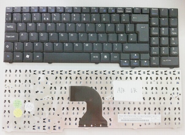 UK Notebook Laptop Keyboard for Asus A7 A7s A7k Mx35 Mx45 Mx51
