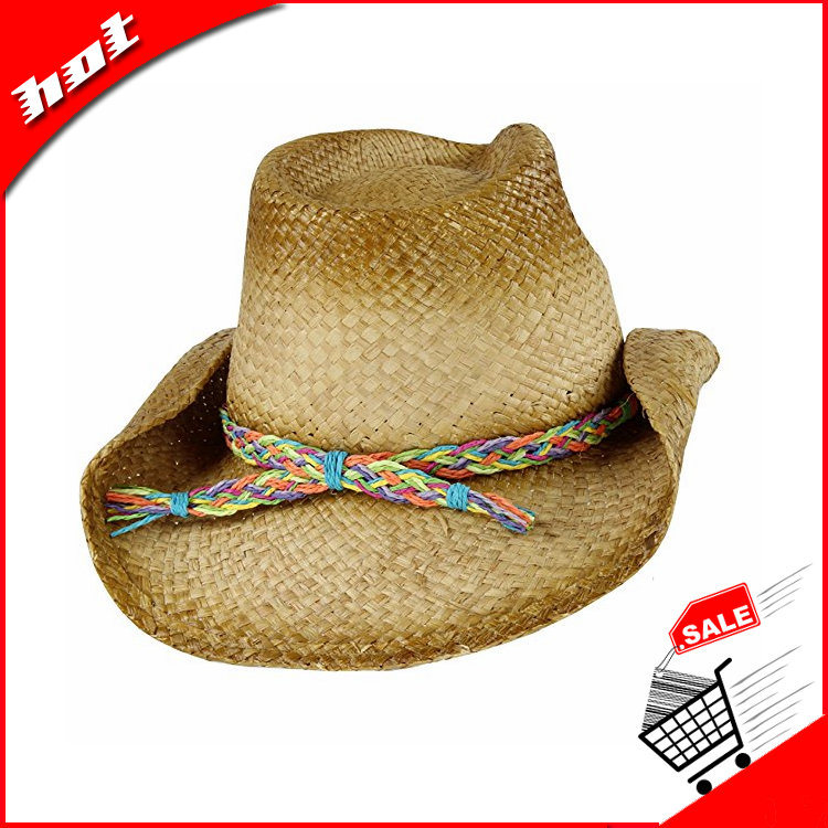 Cowboy Hat, Raffia Hat, 2017 Fashion Straw Hat
