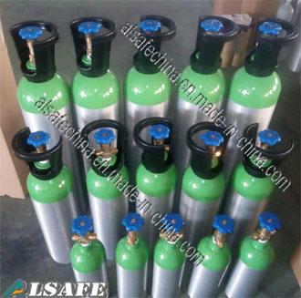 Alsafe 0.3liter to 28.9liter DOT Serials Medical Oxygen Tank Pressure