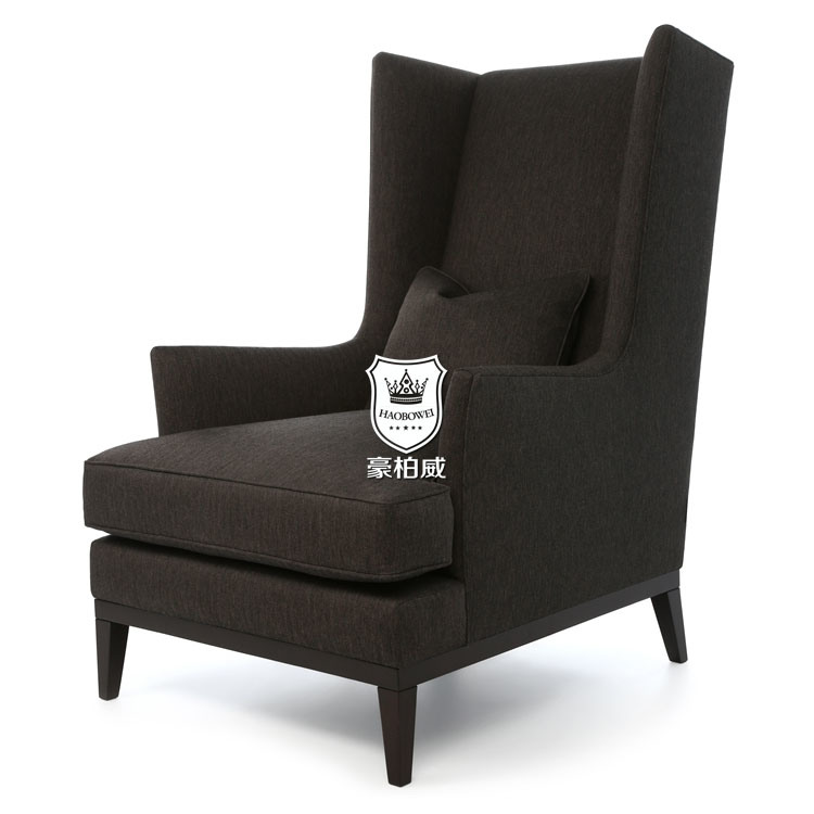 Popular Classic Hotel High Back Wing Chair