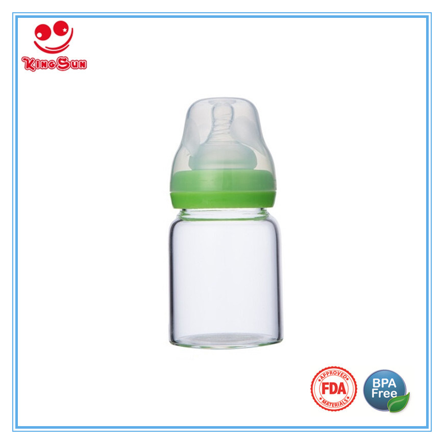 Wide Neck Glass Baby Bottles for Feeding Babies