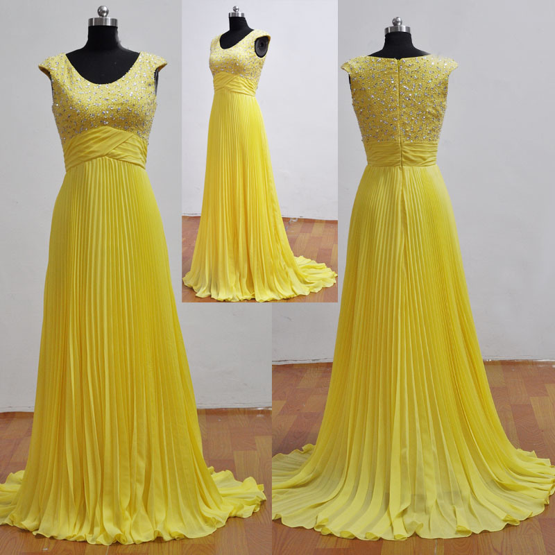 Yellow Evening Gowns China Beautiful Yellow...