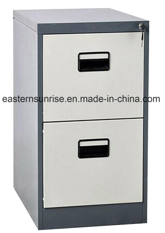 Two Drawer Steel Metal Vertical Filing Storage Cabinet