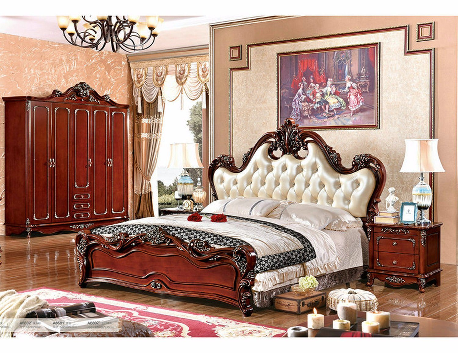 China factory luxury french style bedroom furniture set for French style bedroom furniture