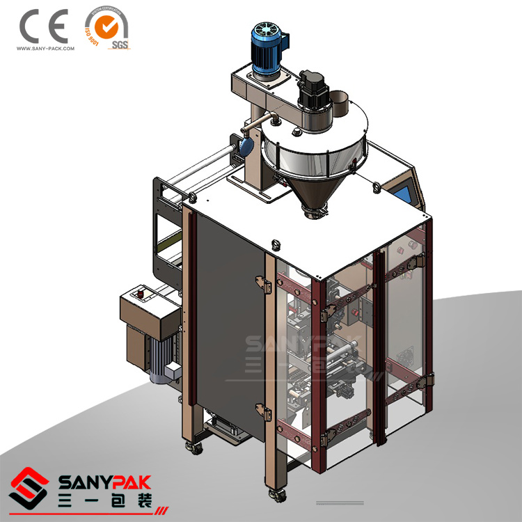 Double Servo Back Sealing Vertical Wrapping Machine for Liquid/Powder/Grain