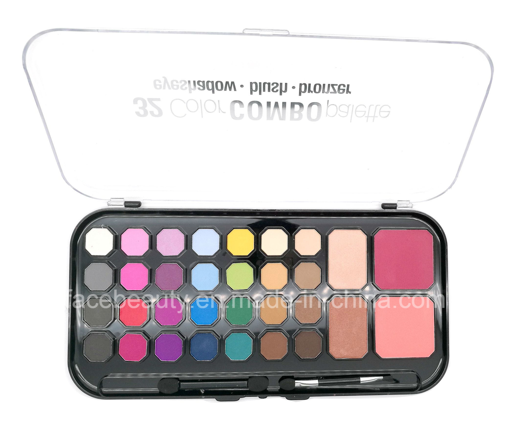 OEM/ODM Professional High Quality Multi-Color 32 Color Combo Palette with Eyeshadow, Blush, Bronzer