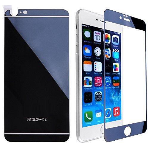 Rose Gold Front+Back Mirror Tempered Glass for iPhone 6plus/6splus