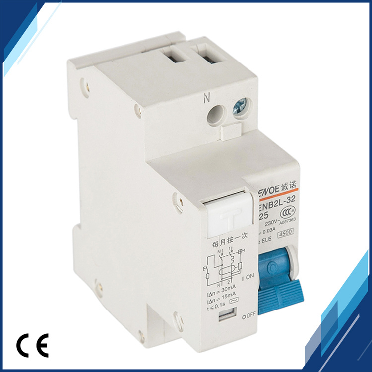 Dpnl (CENB2L-32) 1p+N 25A 230V~ 50Hz/60Hz Residual Current Circuit Breaker with Short Circuit and Leakage Protection