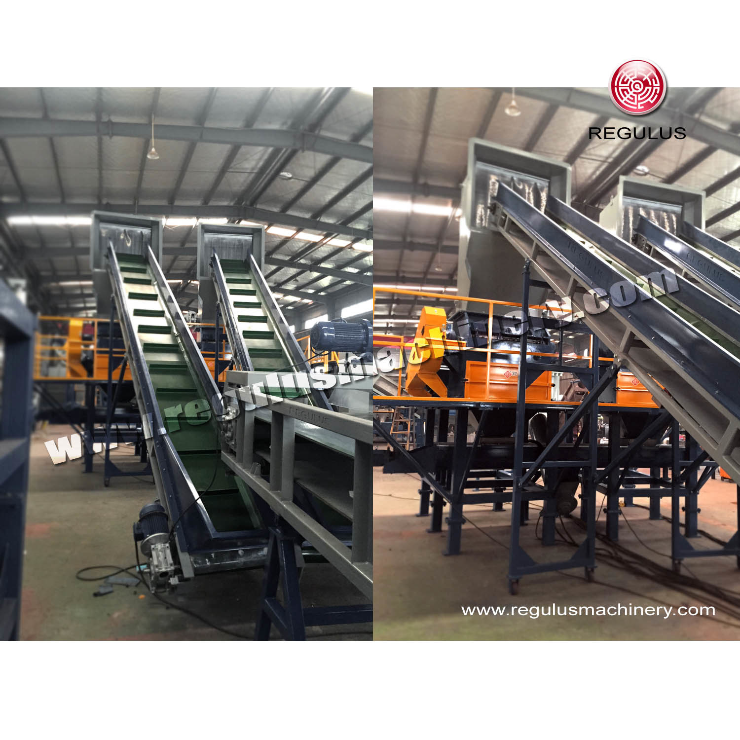 Waste Plastic Pet Bottles and Flakes Recycling Machine