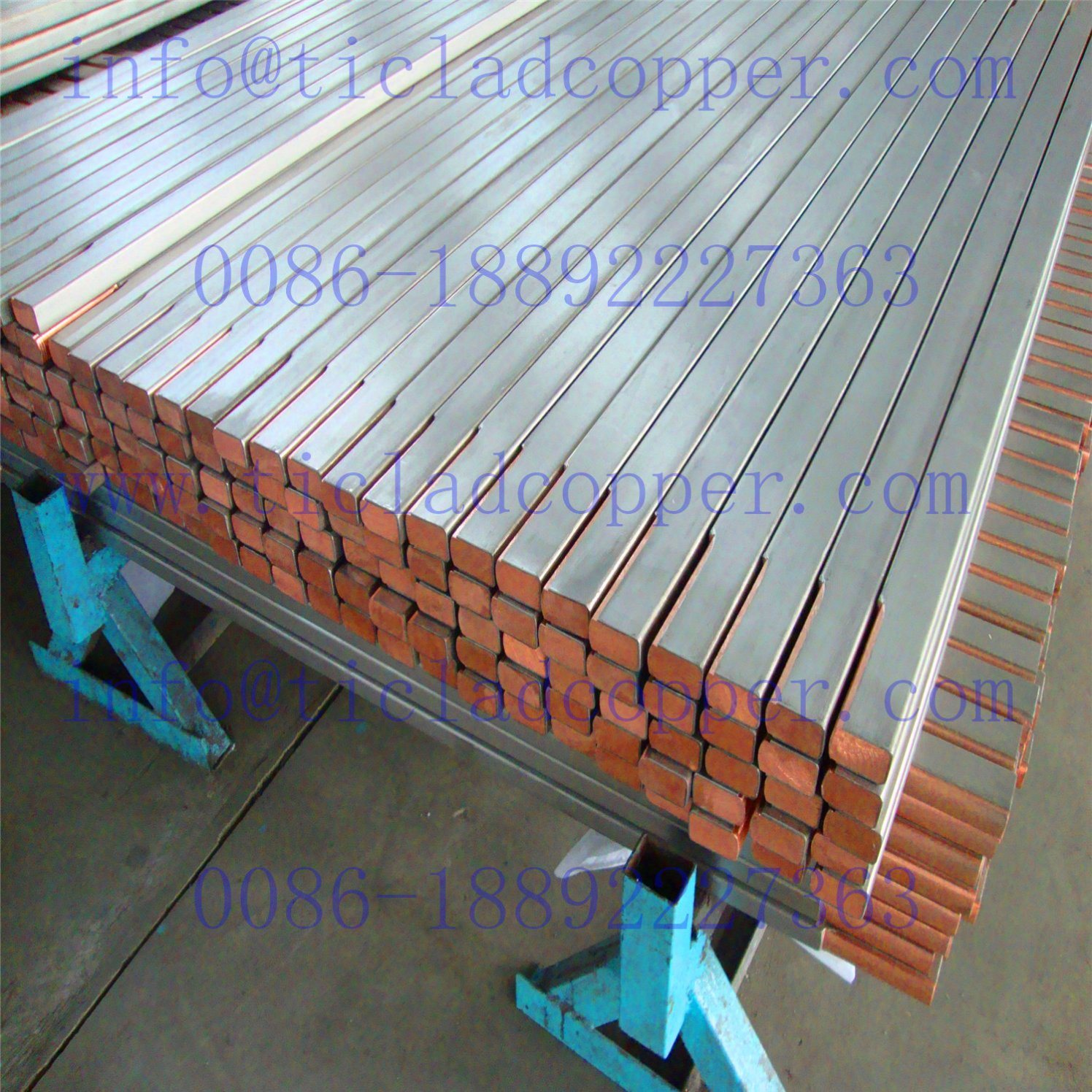 Titanium Clad Copper Composite Metal Drum Bar for Electrochemical Industry