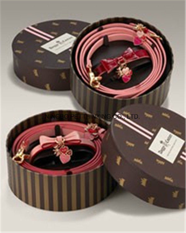 Color Box Pet Collar and Lead, Gift for Puppy Dog