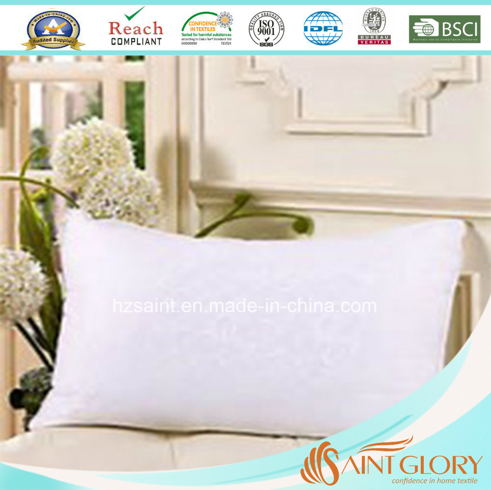 Pure Down Standard Size White Goose Feather and Down Pillow