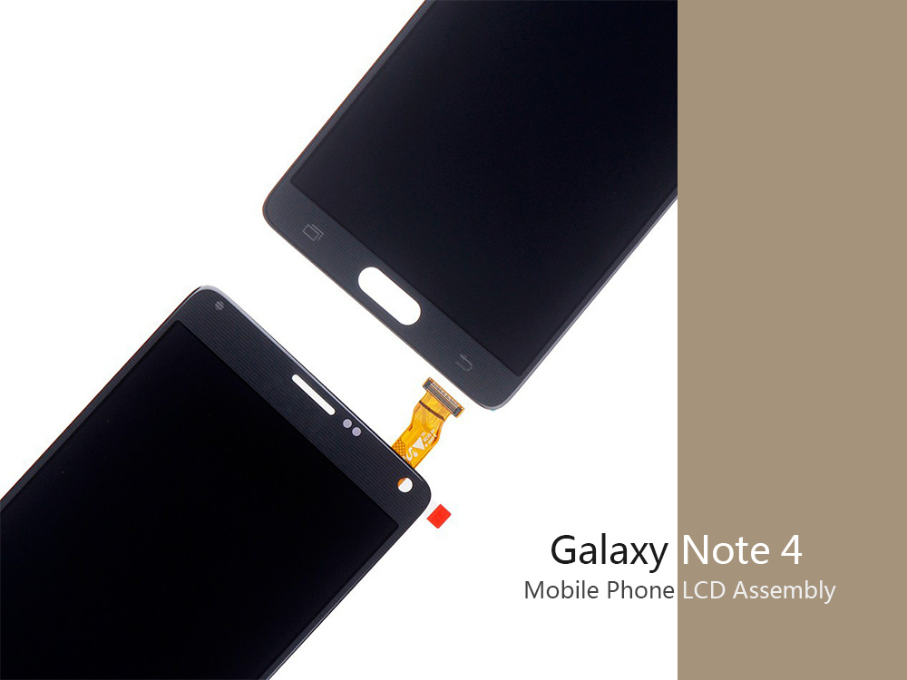 Mobile Phone Spare Parts LCD Touch Screen for Samsung Note4