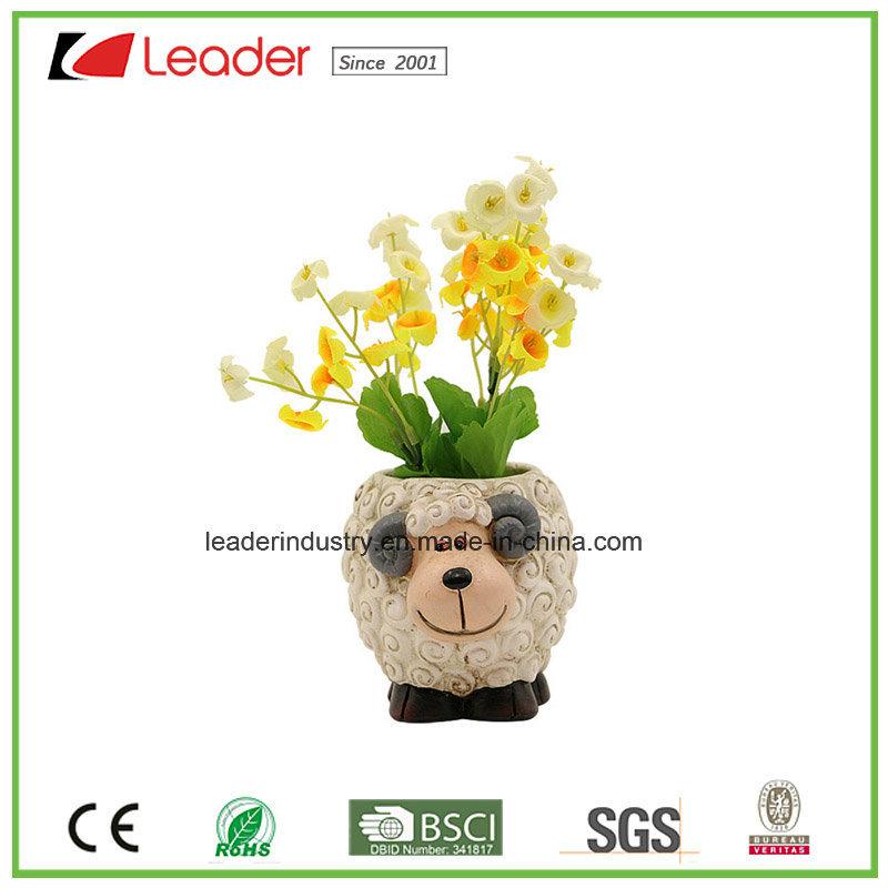 Polyresin Cute Sheep Boy Flowerpots&Planters for Garden Decorative