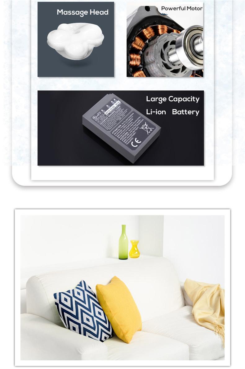 Portable Electric Travel Shiatsu Massage Pillow Lm212