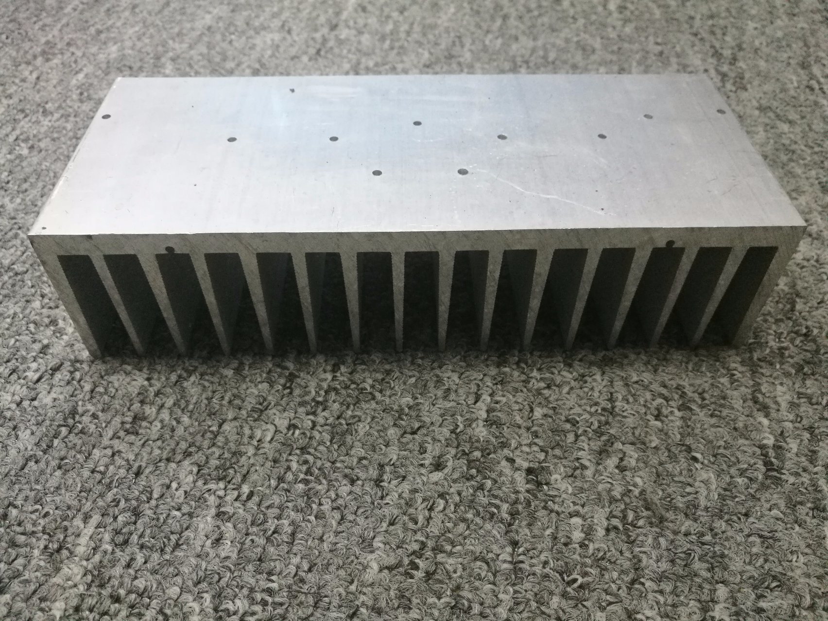 CNC Machined 6063t5 Mill Finish Aluminum Extruded Heatsink Profile