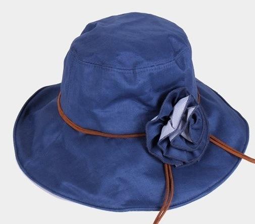 Ladies Floral Brim Hat