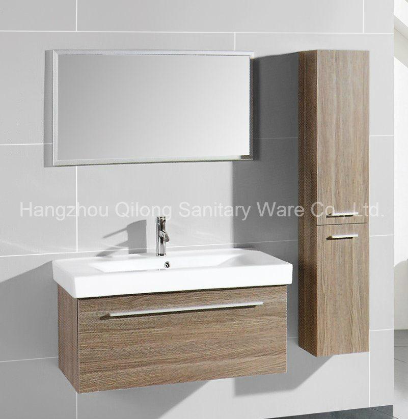 One Door with Zinc Alloy Handles Bathroom Cabinet in Melamine