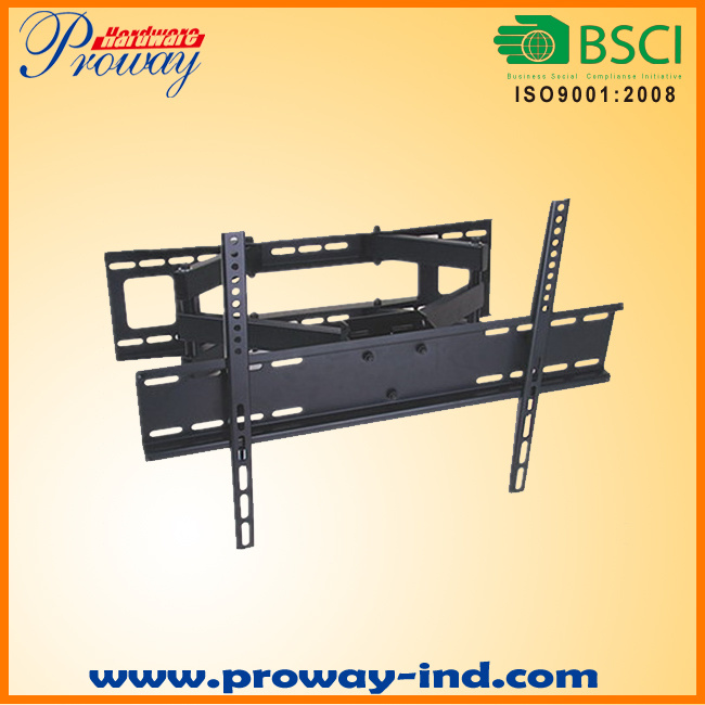 Dual Arm Full Motion TV Wall Mount TV Bracket for 32-55 Inch LED LCD Tvs with Max Vesa up to 400*400mm Heavy Duty 110lbs