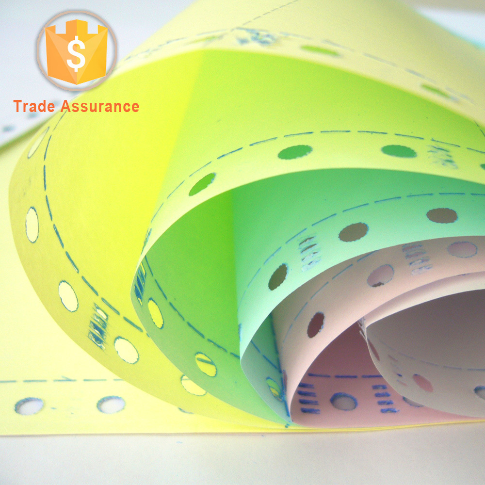 Color Carbonless Paper Stack Form
