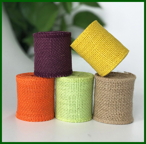 Colored Woven Jute Hessian Fabric Roll