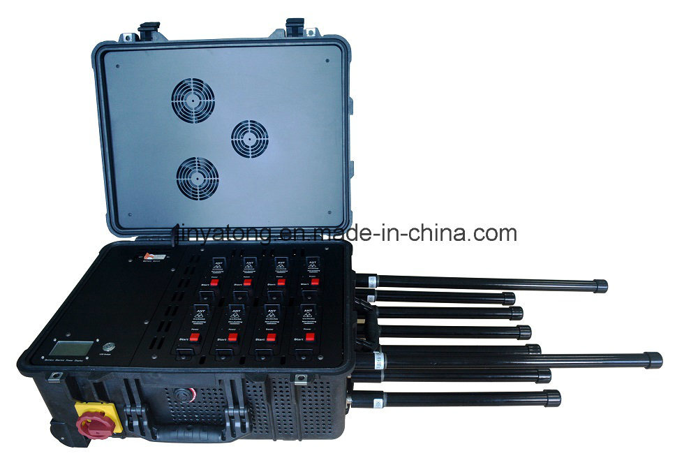 5.8g WiFi 120W Bomb Channels Drone Uav Jammer 400m