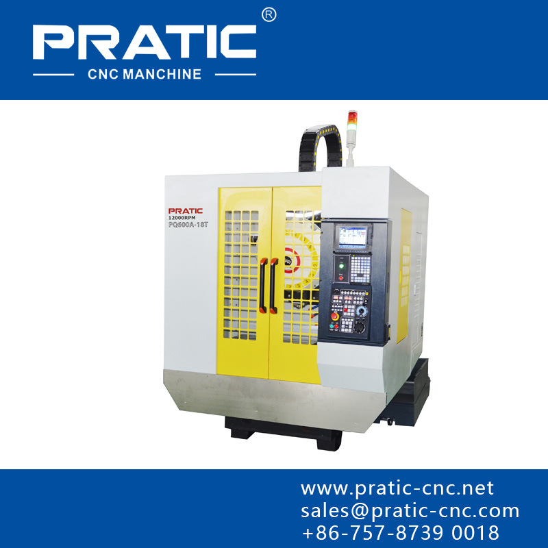 Vertical Aluminum Drilling Tapping and Milling Machining Center-Pqa-540
