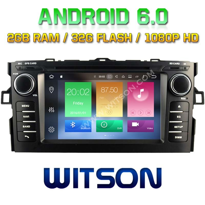 Witson Octa-Core (Eight Core) Android 6.0 Car DVD for Toyota Auris 2007-2011 2g ROM 1080P Touch Screen 32GB ROM (B5730T)