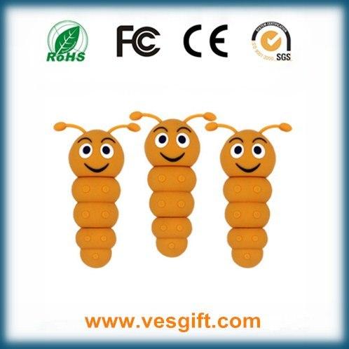 PVC OTG Model Caterpillar Shape USB Flash Driver