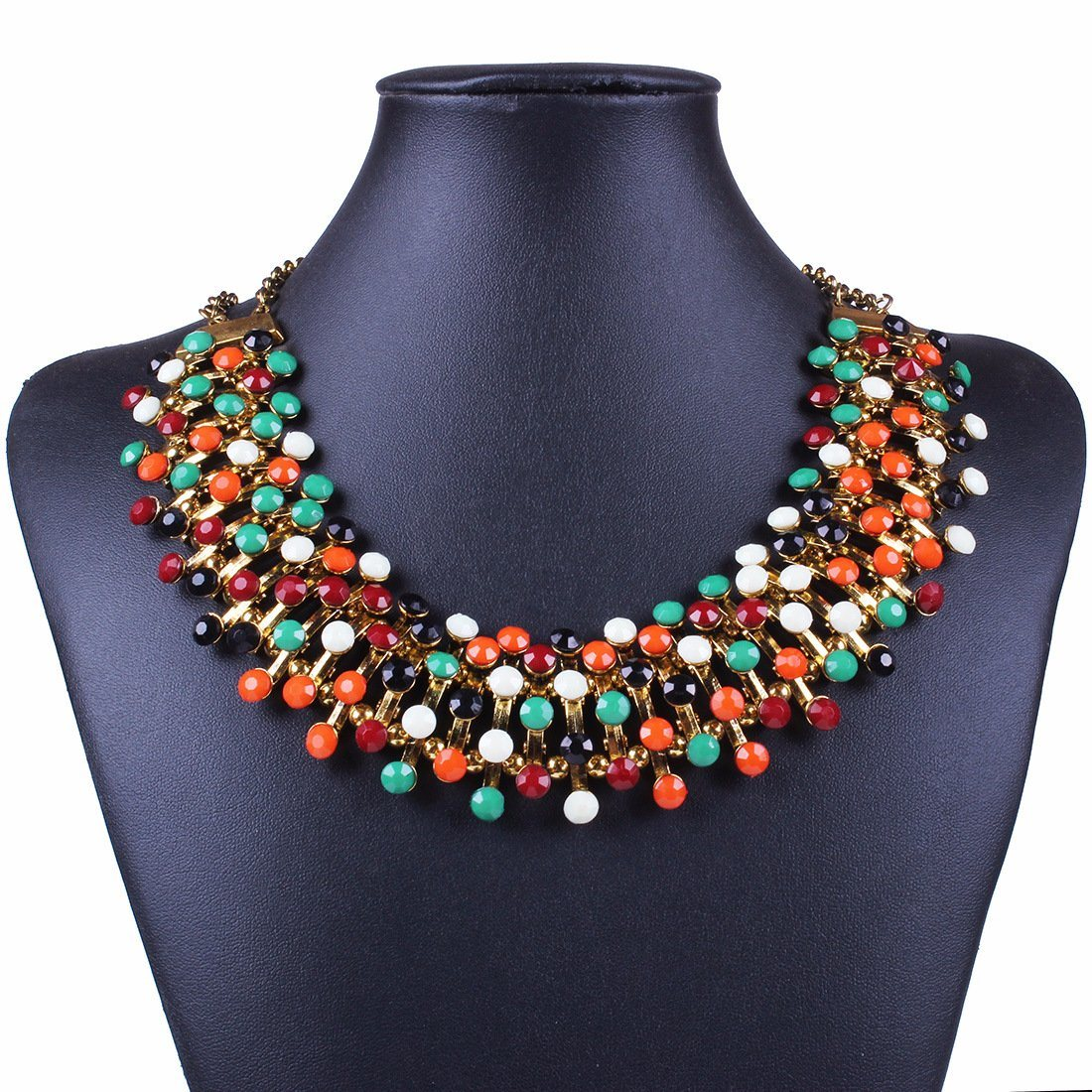 Fashion Designer Colorful Acrylic Statement Choker Necklace Jewelry