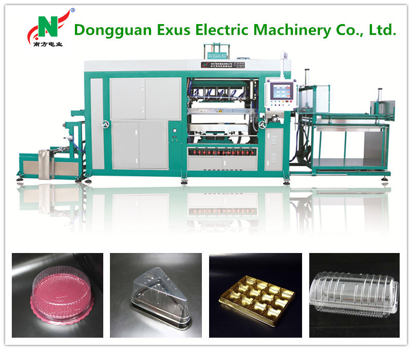 Plastic Egg Tray/Blister Tray/Packaging Tray/Food Tray/Lunch Box/Lids Making Production Line Vacuum Thermoforming Machine