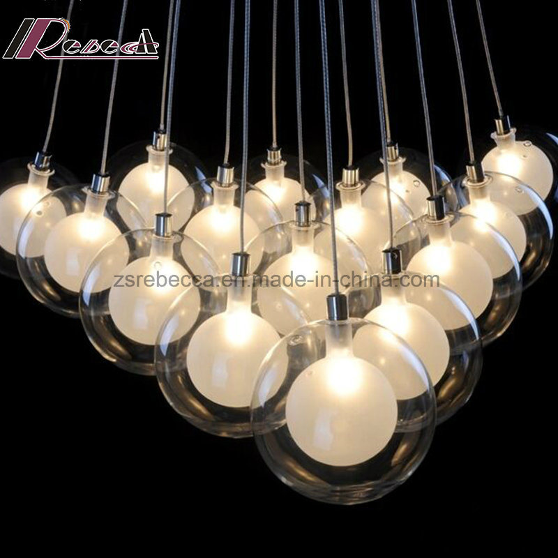 Simple Decoration Glass Ball Pendant Lamp with Dining Room