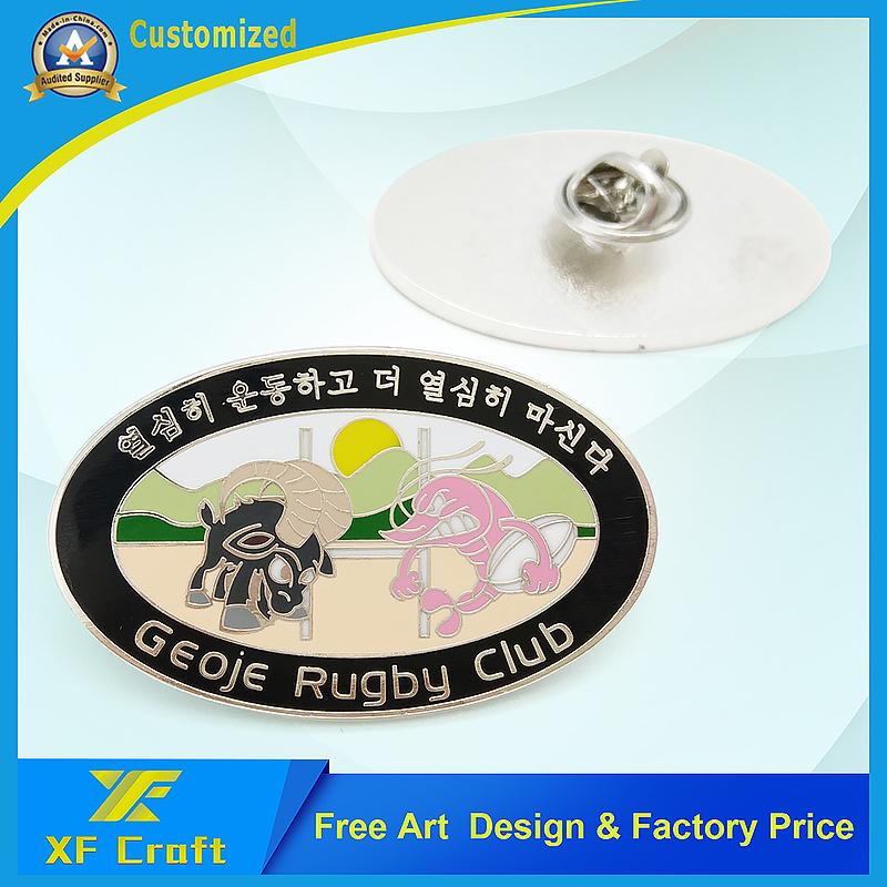 Promotion Custom Iron Stamping Soft Enamel Pin Badge with Any Logo (XF-BG21)
