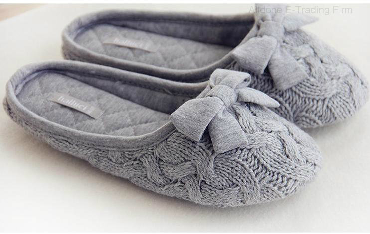 Indoor Slippers/Indoor Footwear/Women Slippers/Knit Slippers