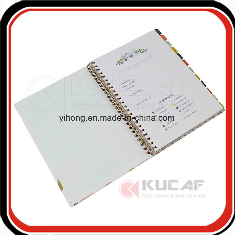 Custom Yo Binding Hardcover Weekly Happy Wedding Planner with Gift Box Packaging