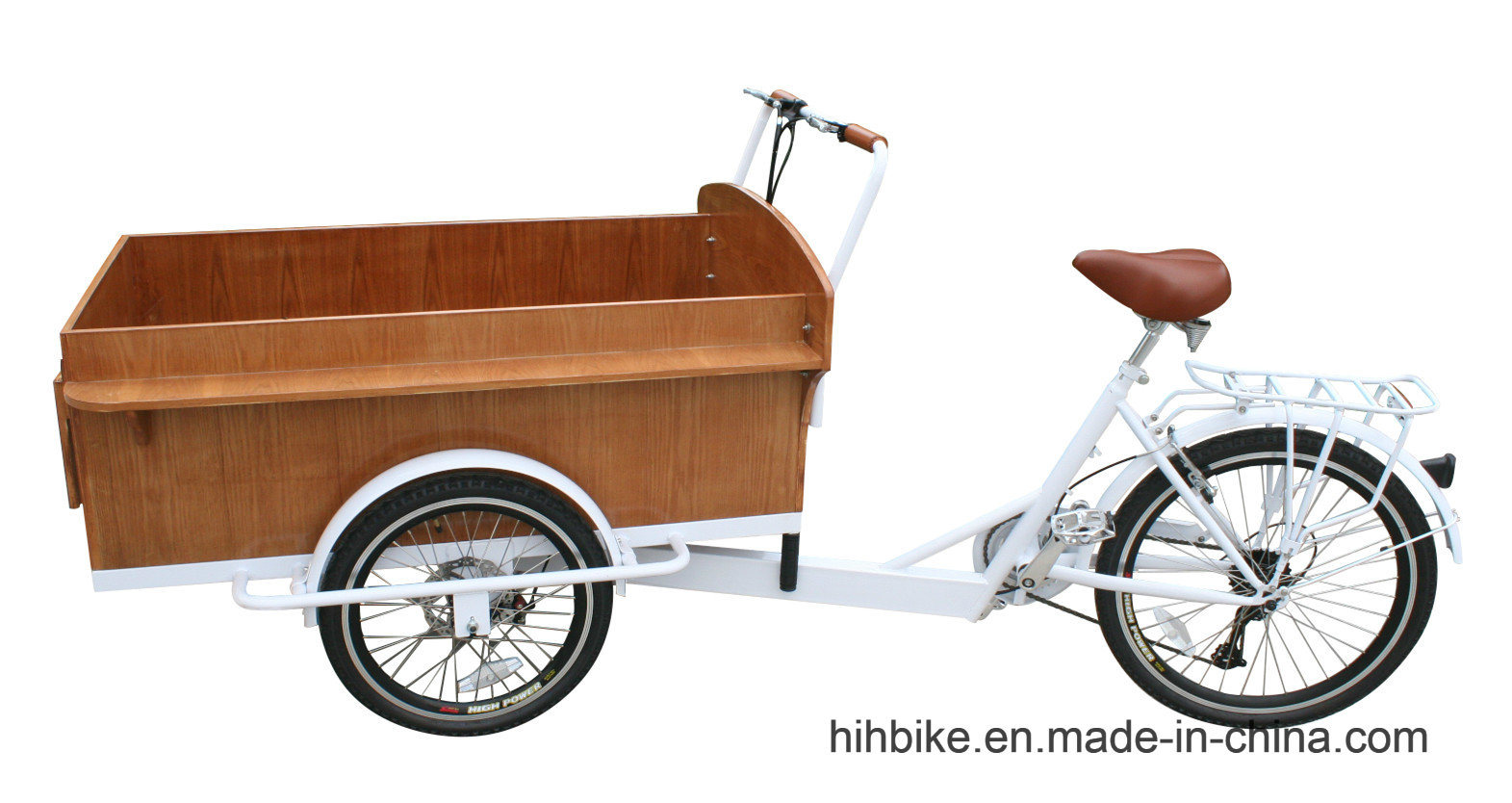 Wooden Cart Trike with Power Assist