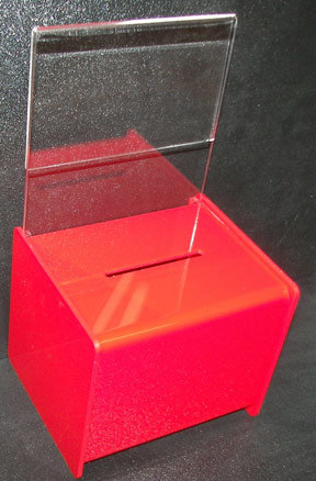 Customize PMMA Clear Acrylic Donation Box