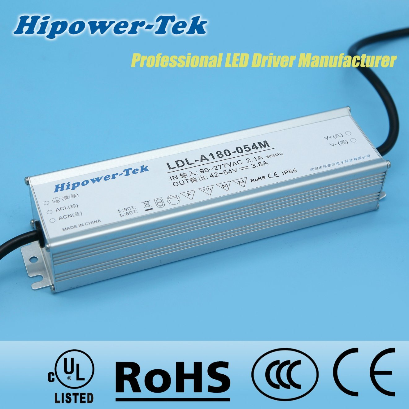 180W Waterproof IP65/67 Outdoor Timing Control Power Supply LED Driver