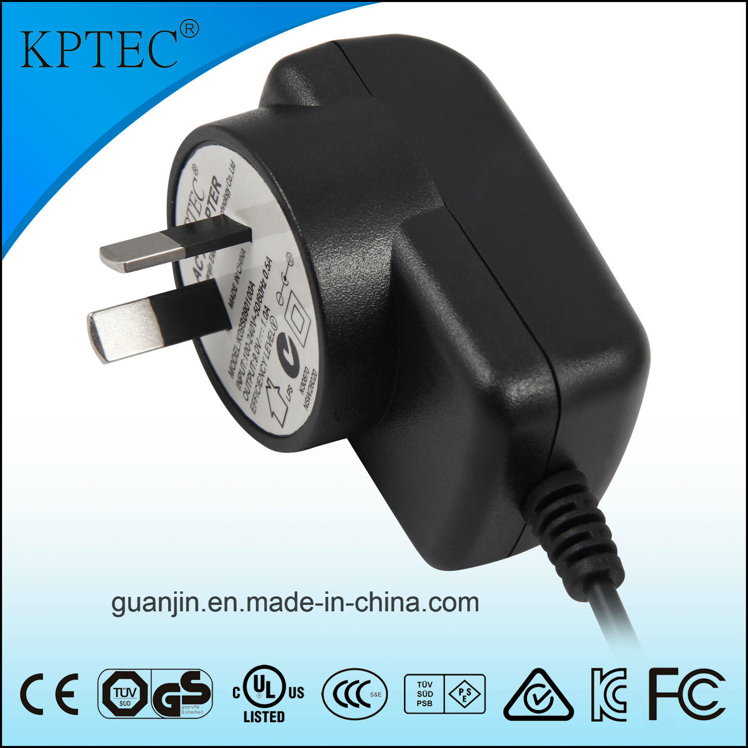 Australia Plug AC/DC Adapter with SAA and Gems
