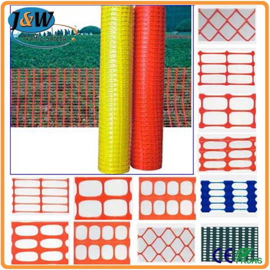 Orange Plastic Safety Fence / Warning Barrier Mesh