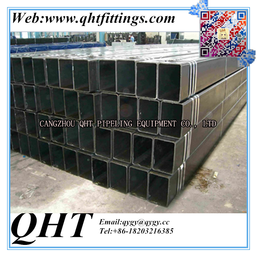 Hollow Section Black or Galvanized Rectangular Steel Pipe