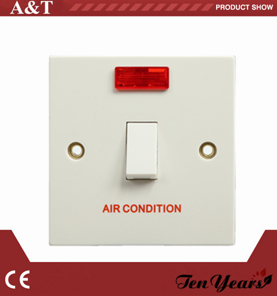 CE Approved 20A D. P Wall Switch with Neon