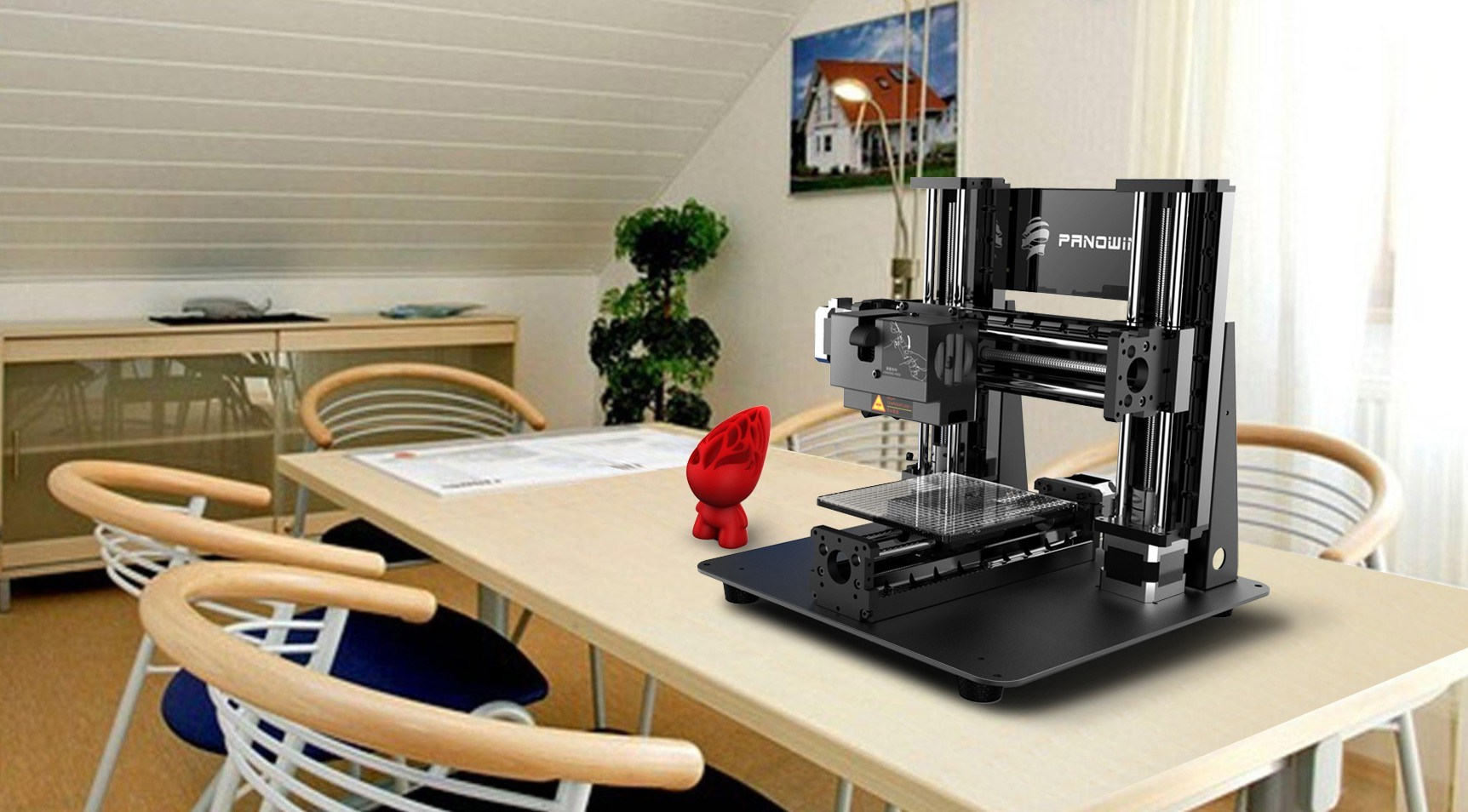 Three-in-One 3D Printer for Education and Toy