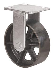 Heavy Duty Caster Series - 6in. Rigid Cast Iron Wheel
